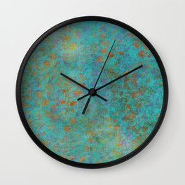 Fantaisie Floral Teal Wall Clock
