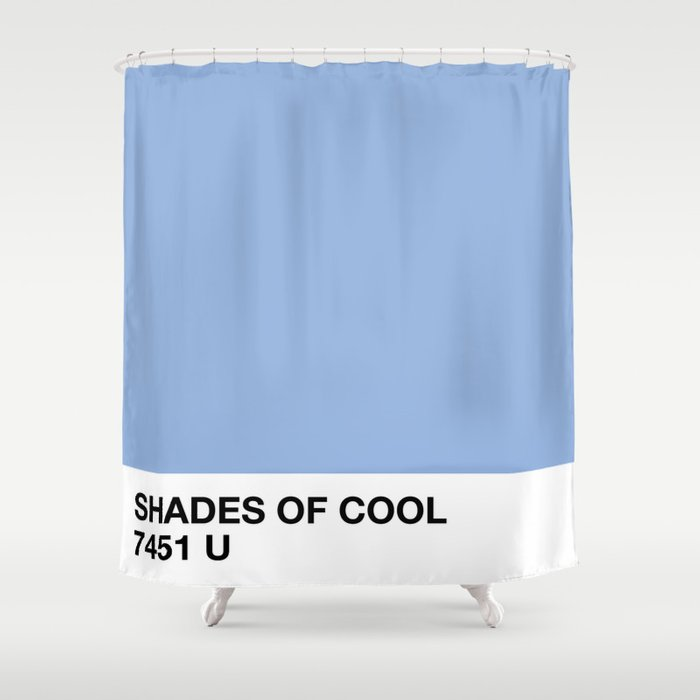 shades of cool Shower Curtain