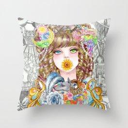 Prisila Throw Pillow