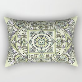 Mandala no.4: The earth Rectangular Pillow
