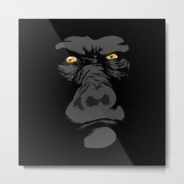 Gorila Eyes Metal Print