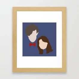 The Eleventh Doctor and the lovely Clara Oswin Oswald Framed Art Print
