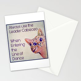 Milonga Cat - Use the Leader Cabeceo Stationery Cards