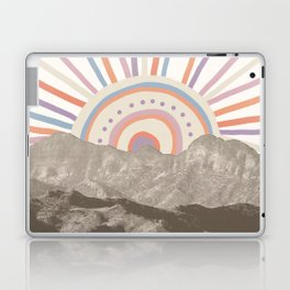 Summerlin Mountain Up // Abstract Vintage Mountains Summer Sun Surf Beach Vibe Drawing Happy Wall Ha Laptop & iPad Skin