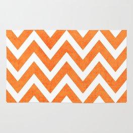 orange chevron Rug