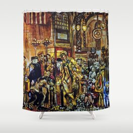 African American Masterpiece 'Harlem Renaissance' by Jacob Lawrence Shower Curtain