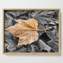 Frosty Leaves Serving Tray