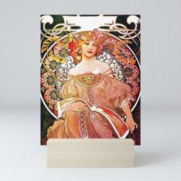 Alphonse Mucha Daydream Floral Vintage Art Nouveau Mini Art Print