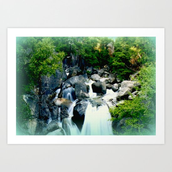 Triplet Falls Art Print