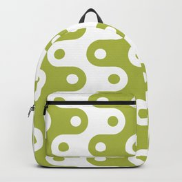 Mid Century Modern Chain Pattern Chartreuse Backpack