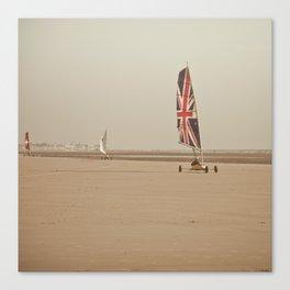 sand yachting Canvas Print