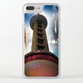 Shanghai - Oriental Pearl Tower Clear iPhone Case