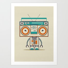 Music robot Art Print