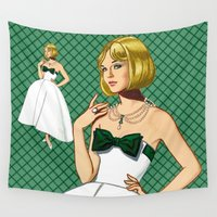 emerald Wall Tapestries featuring Emerald by Art of Tom Tierney