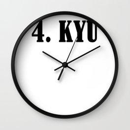 Karate martial arts sports power struggle gift Wall Clock