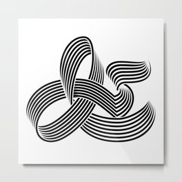 Eye bending Ampersand. Metal Print