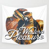 western Wall Tapestries featuring Western Pleasure by Fallen Apple Designs