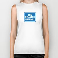 channel Biker Tanks featuring The Disaster Channel by Knock It Off!