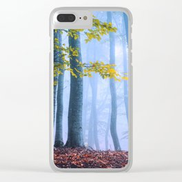 Mysterious Woods Clear iPhone Case
