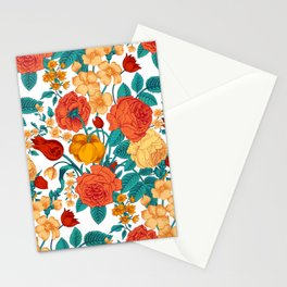 Vintage flower garden Stationery Cards