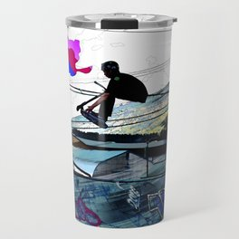 Let's Scoot! - Stunt Scooter at Skate Park Travel Mug