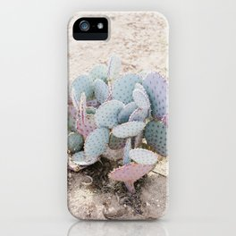 Pink and Mint Cactus iPhone Case