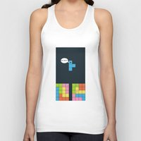 tetris Tank Tops featuring Tetris by sEndro