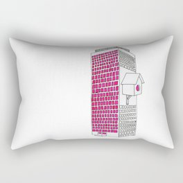 High rise birdhouse. Rectangular Pillow