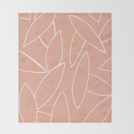 abstract tropical leaves Throw Blanket
