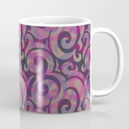 Overlapping patterns with burgundy effect Coffee Mug