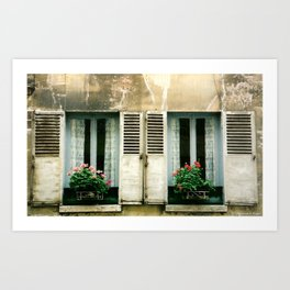 Double Exposure ~ French Country Windows Art Print