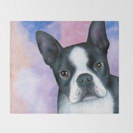Dog 128 Boston Terrier Throw Blanket