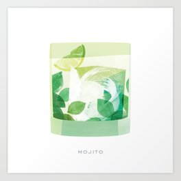 Cocktail Hour: Mojito Art Print