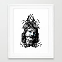 pain Framed Art Prints featuring PAIN by DIVIDUS