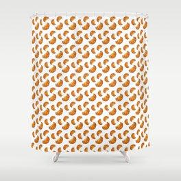 watercolor croissant Shower Curtain