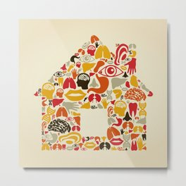Body the house Metal Print