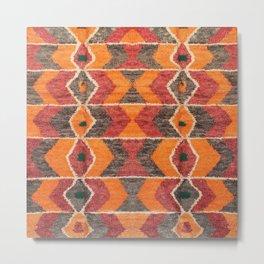 Multicolore Bohemian Moroccan Design D12 Metal Print