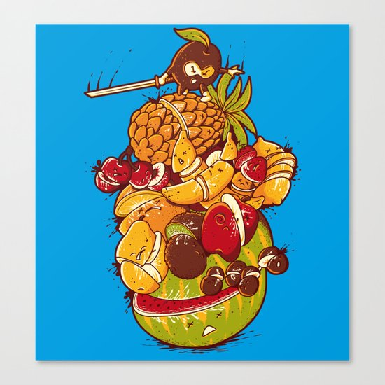 Little Warrior Canvas Print