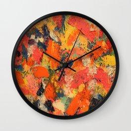 Orange Splash Wall Clock