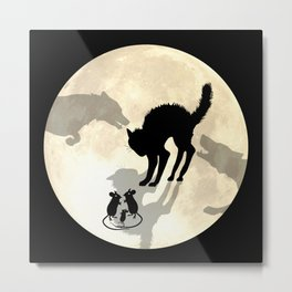 Circle Of Life Moon Metal Print