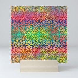 DP050-3 Colorful Moroccan pattern Mini Art Print