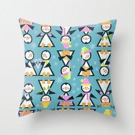 Penguin Party Throw Pillow