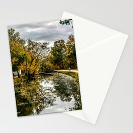 Autumn on the Canal Stationery Cards