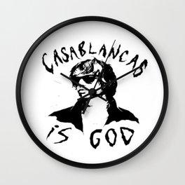 Julian Casablancas Screen-Printed Wall Clock