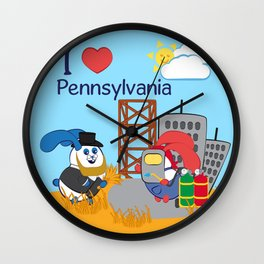 Ernest and Coraline | I love Pennsylvania Wall Clock