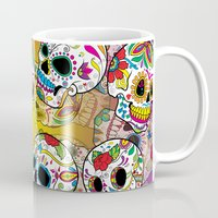 sugar skulls Mugs featuring Sugar Skulls by Spooky Dooky