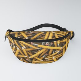 Pencil it in / 3D render of hundreds of yellow pencils Fanny Pack