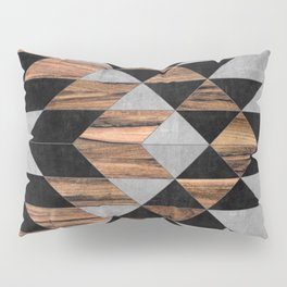 Urban Tribal Pattern No.10 - Aztec - Concrete and Wood Pillow Sham
