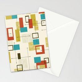 Mid Century Modern, Sputnik Pattern Stationery Cards