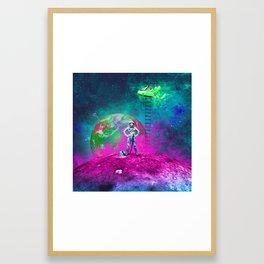 Space & Ladders Framed Art Print